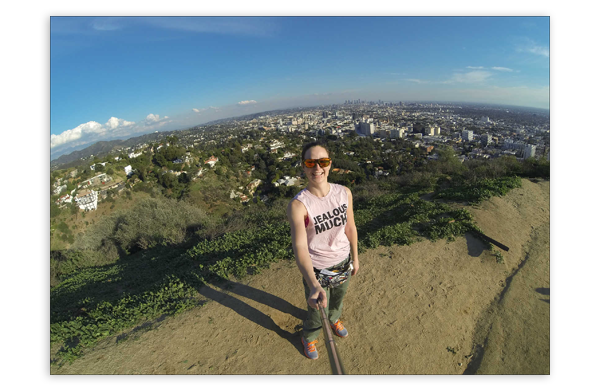 Gillian and a beautiful view of Los Angeles